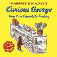 Curious george goes to a chocolate factory 표지