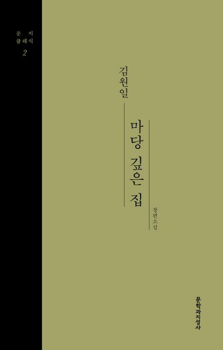 마당 깊은 집 : 김원일 장편소설