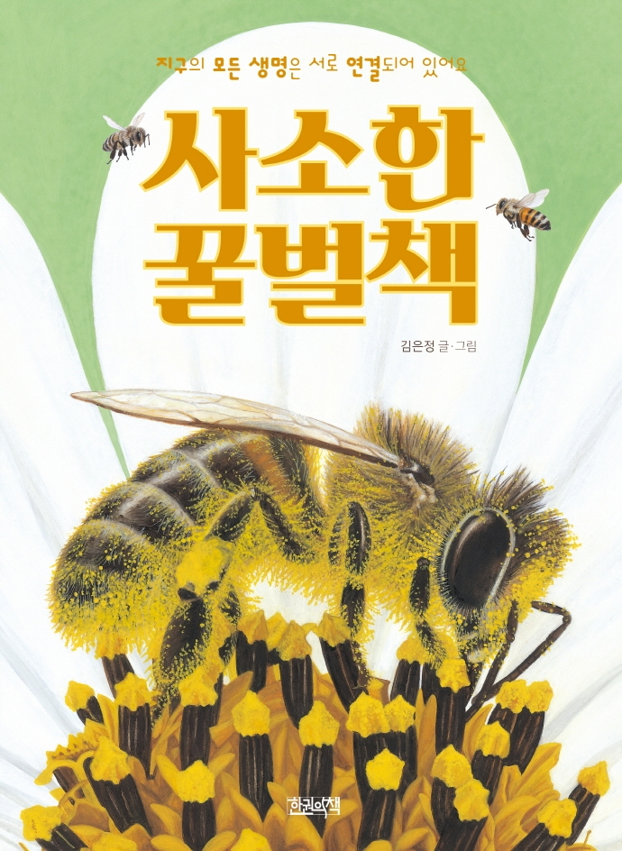 사소한 꿀벌책: 지구의 모든 생명은 서로 연결되어 있어요 표지